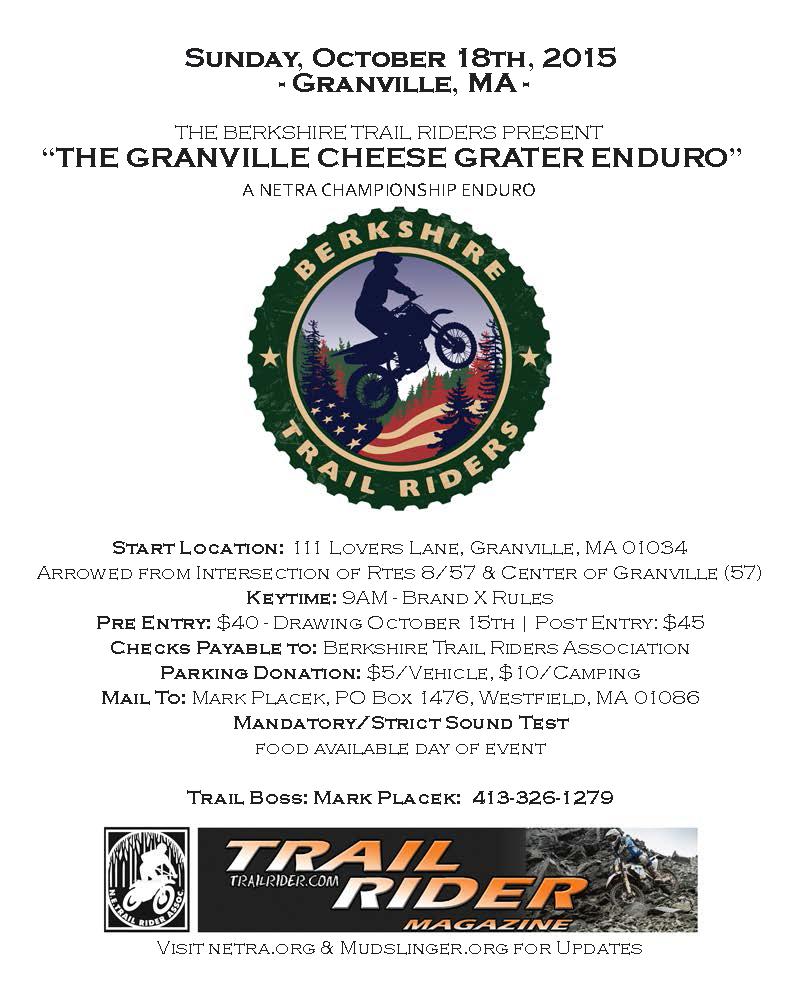 Granville Cheese Grater Enduro @ Granville | Massachusetts | United States