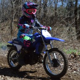 Pee Wee riders at the Dam Fun Ride had their own closed course. Many kids spent hours on end on this loop.