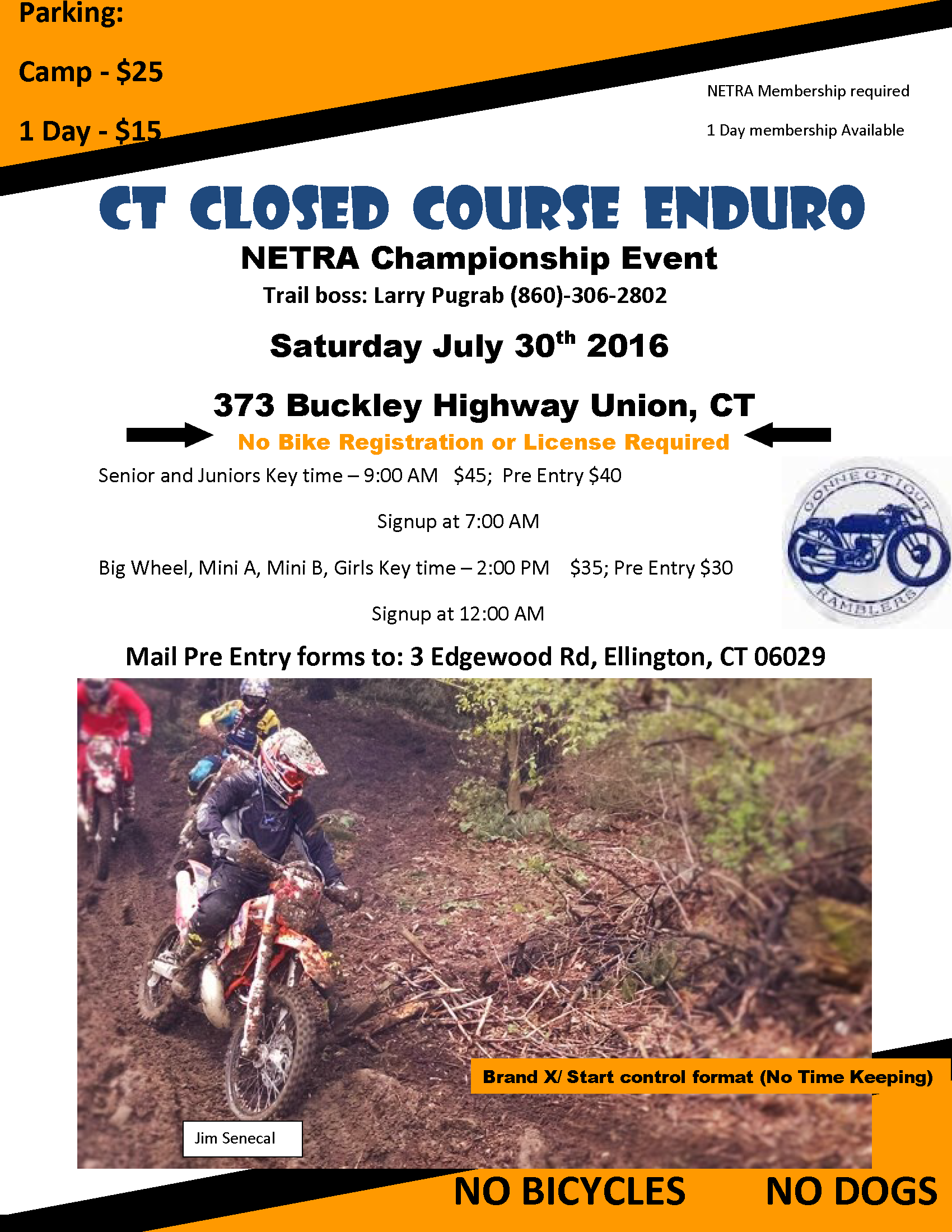 CT Closed Course Enduro @ Martin's | Stafford | Connecticut | United States