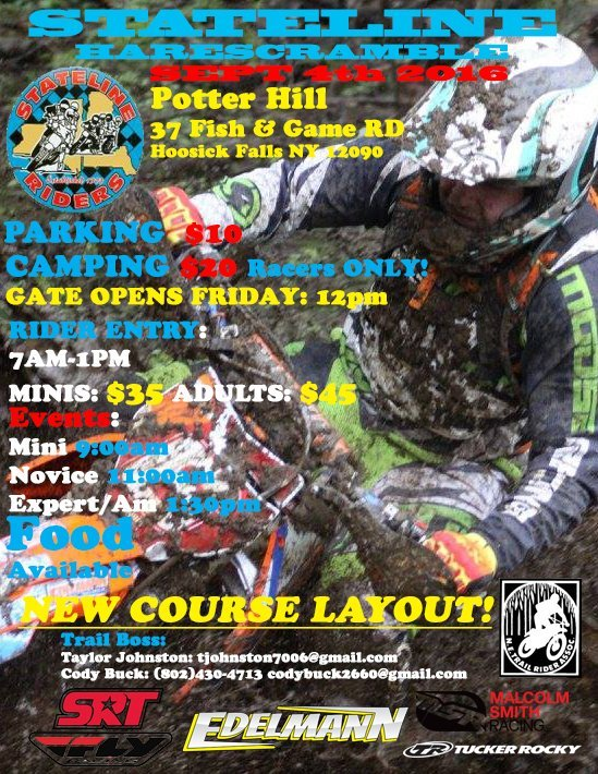 Stateline Hare Scrambles @ Potter Hill | Hoosick Falls | New York | United States
