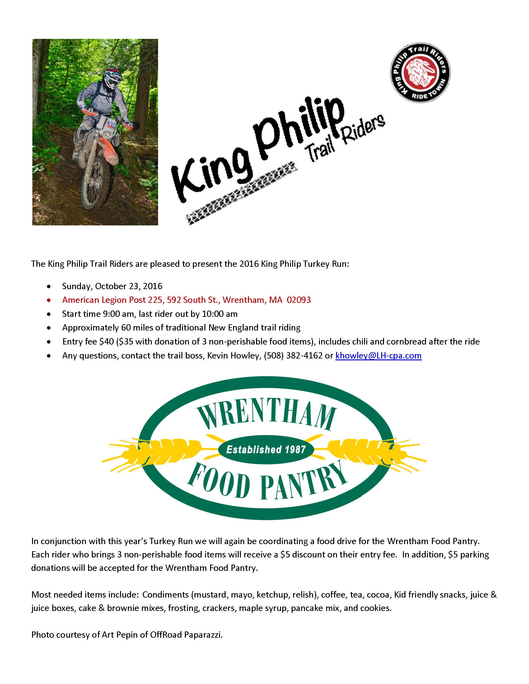 King Philip Turkey Run @ American Legion Post 225 | Wrentham | Massachusetts | United States