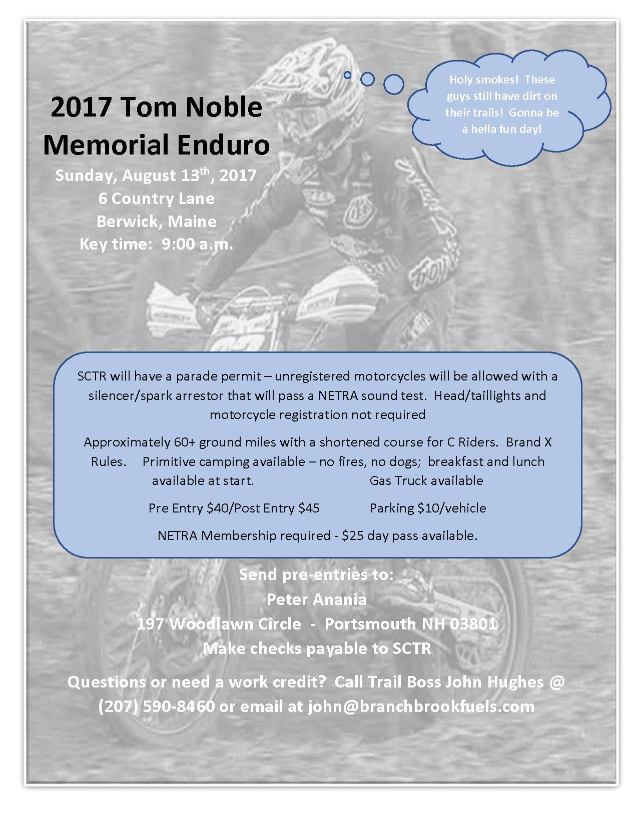 Tom Noble Enduro @ Berwick | Maine | United States