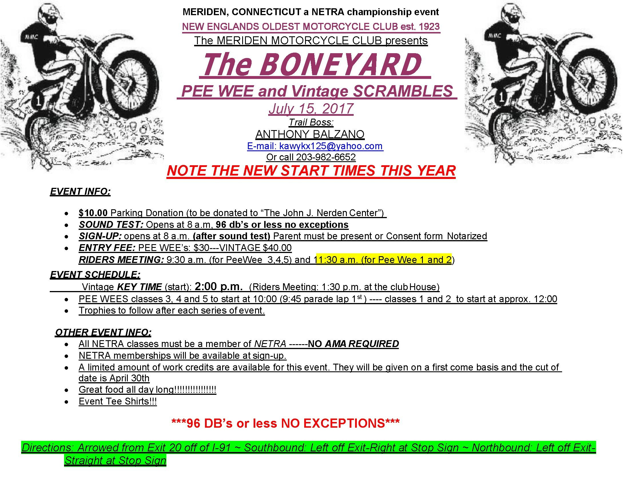 Boneyard Vintage Scrambles @ Meriden Motorcycle Club | Meriden | Connecticut | United States