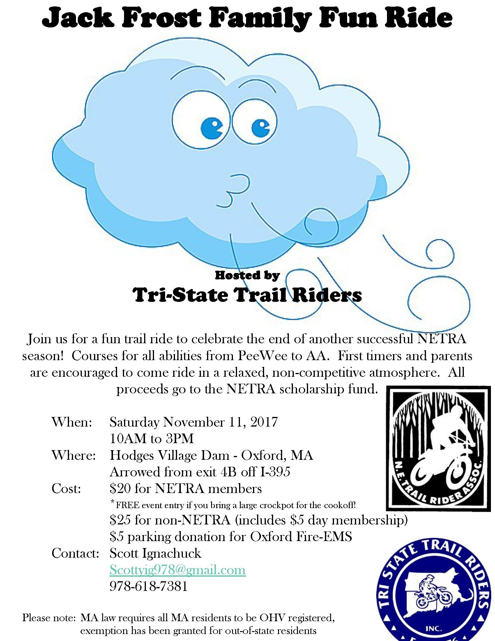 Jack Frost Family Fun Ride @ Hodges Village Dam | Oxford | Massachusetts | United States