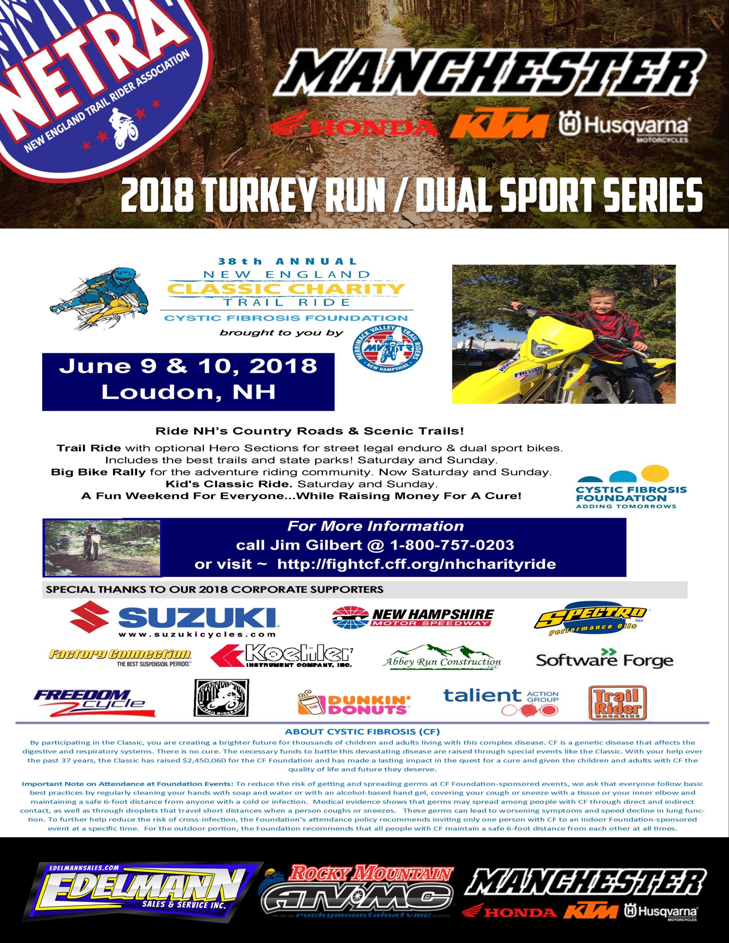 New England Classic Turkey Run/Dual Sport/Kid's Ride @ NH Motor Speedway | Loudon | New Hampshire | United States