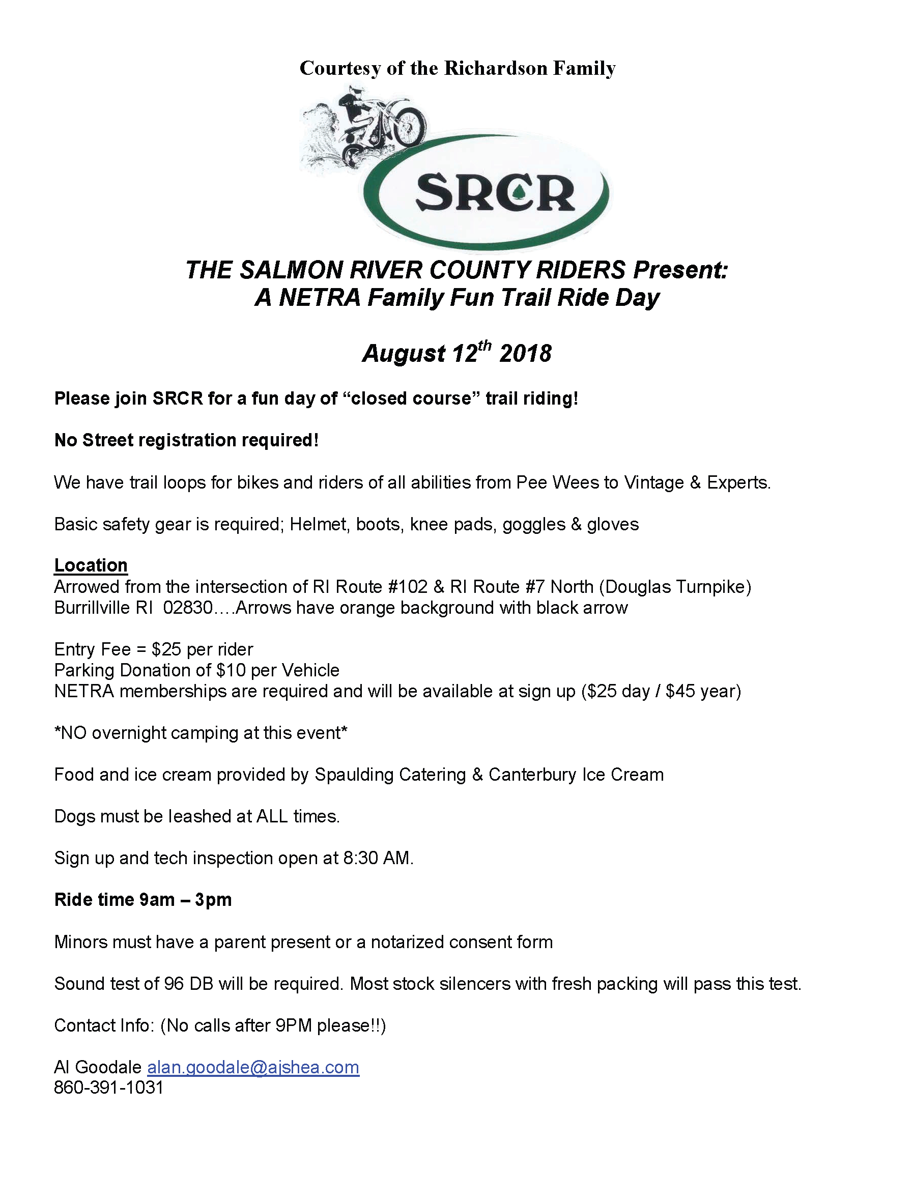 SRCR - Family Fun Trail Ride @ Richardson's Farm | Burrillville | Rhode Island | United States