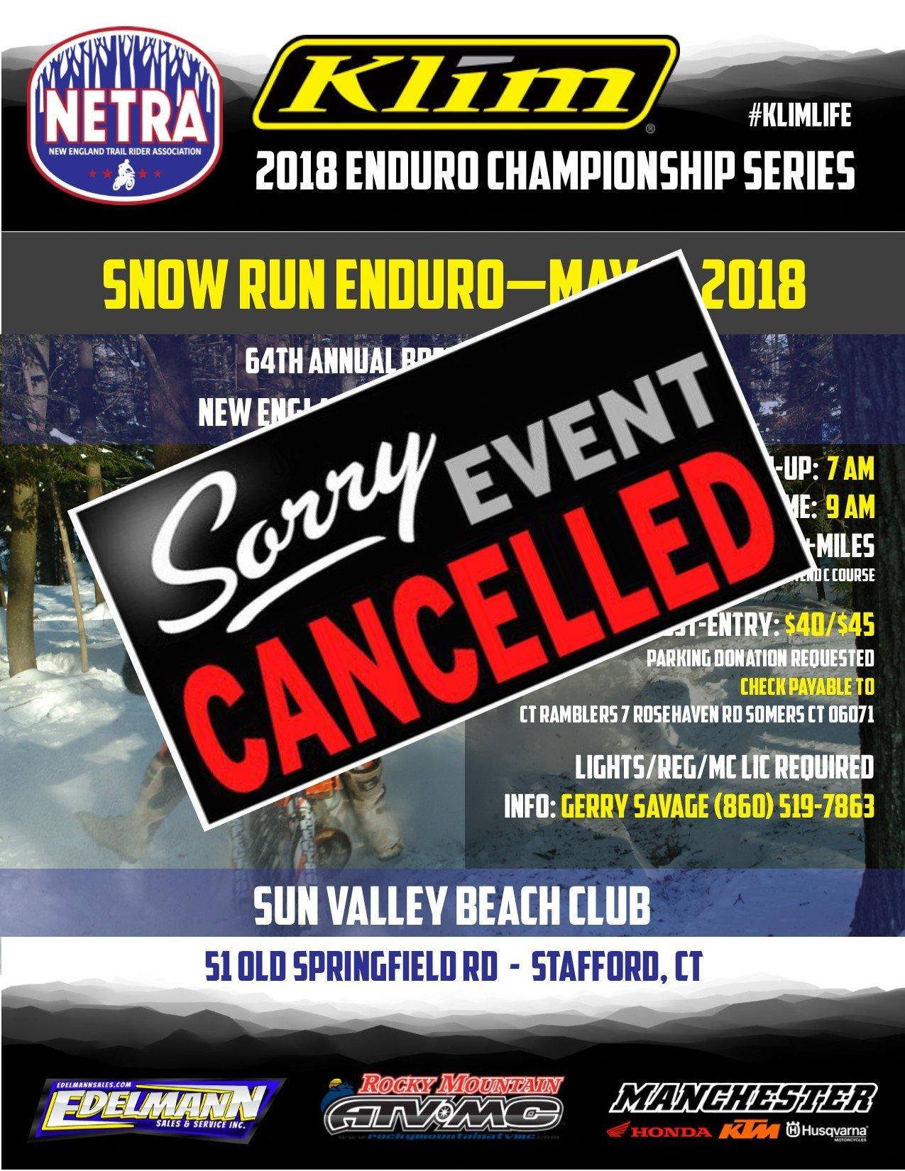 Snow Run Enduro @ Sun Valley Beach Club | Stafford | Connecticut | United States