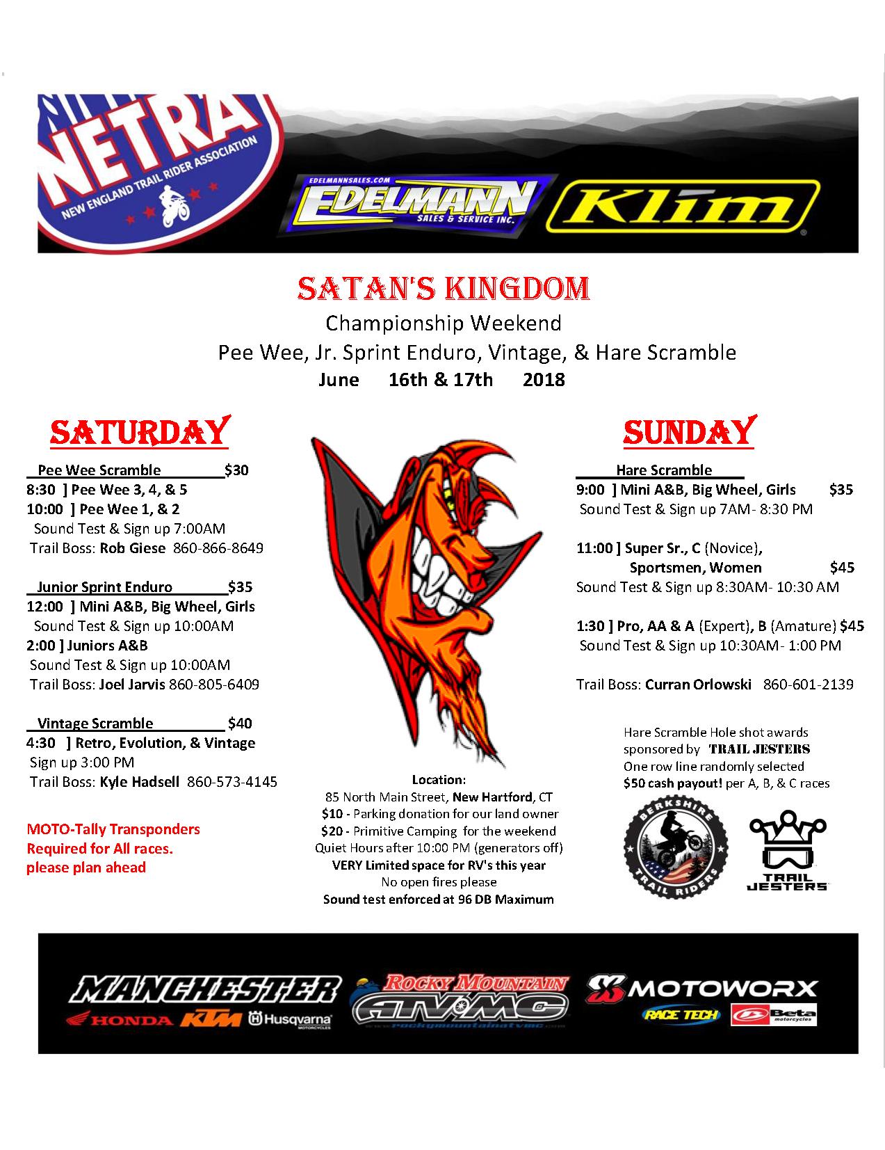 Satan's Kingdom Pee Wee Scrambles @ New Hartford | Connecticut | United States