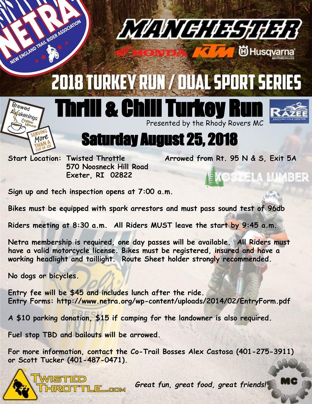 Thrill & Chill Turkey Run @ Twisted Throttle | Exeter | Rhode Island | United States
