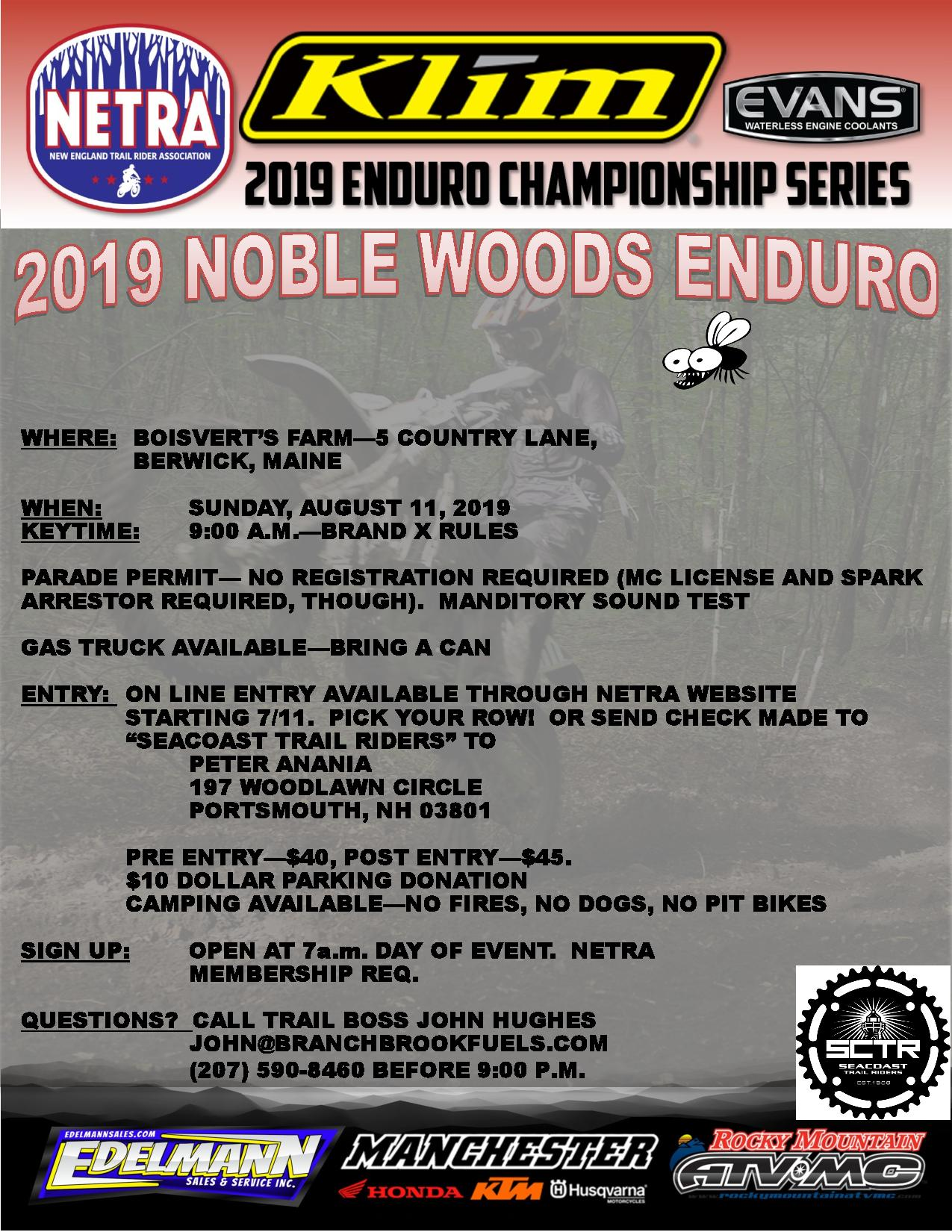 Tom Noble Enduro @ Boisvert's Farm
